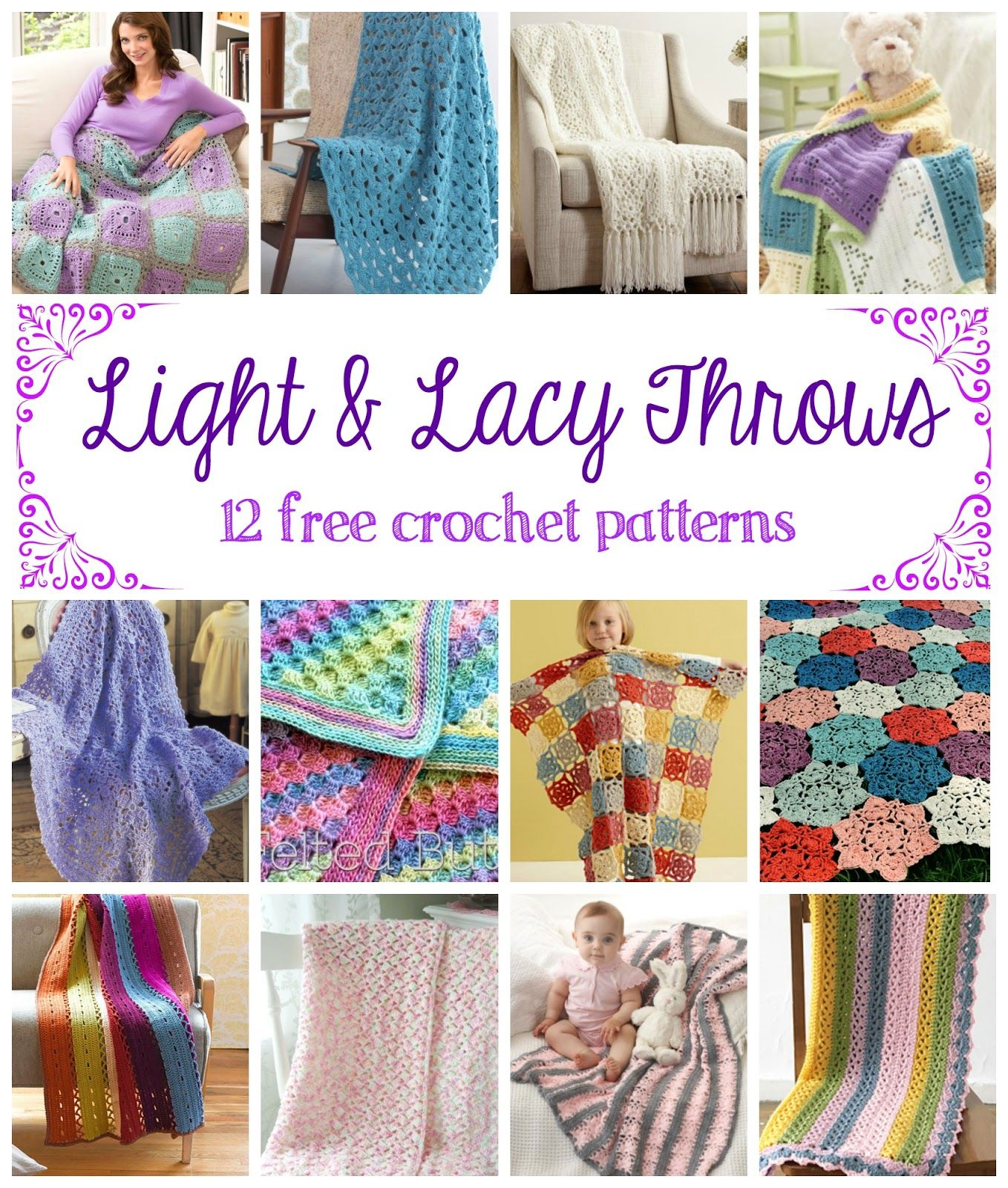 Light And Lacy Throws 12 Free Crochet Patterns Crochet