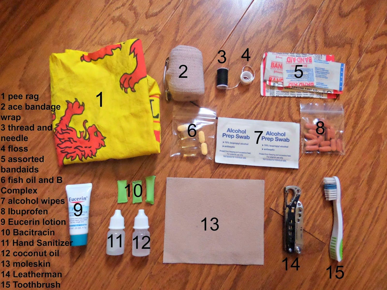 Backpacking First Aid And Hygiene Kit With Images Camping Kit