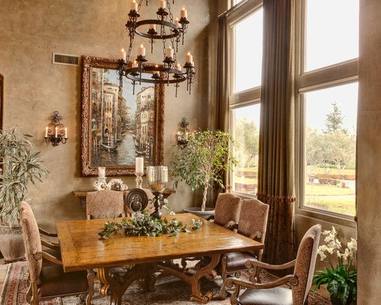 Good Tuscan Reflections   Mediterranean   Dining Room   Other Metro    Professional Design Consultants