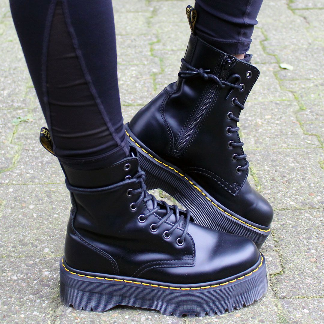 WEBSTA Shared by Thanks for sharing! - Rocking those bad ass boots! - The  awesome Jadon Boot in Black Polished Smooth!