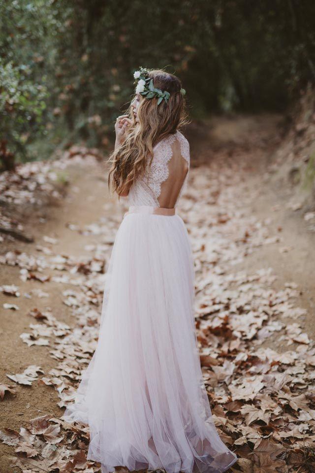 novia boho bohemia romantico immacle escote espalda croche bride