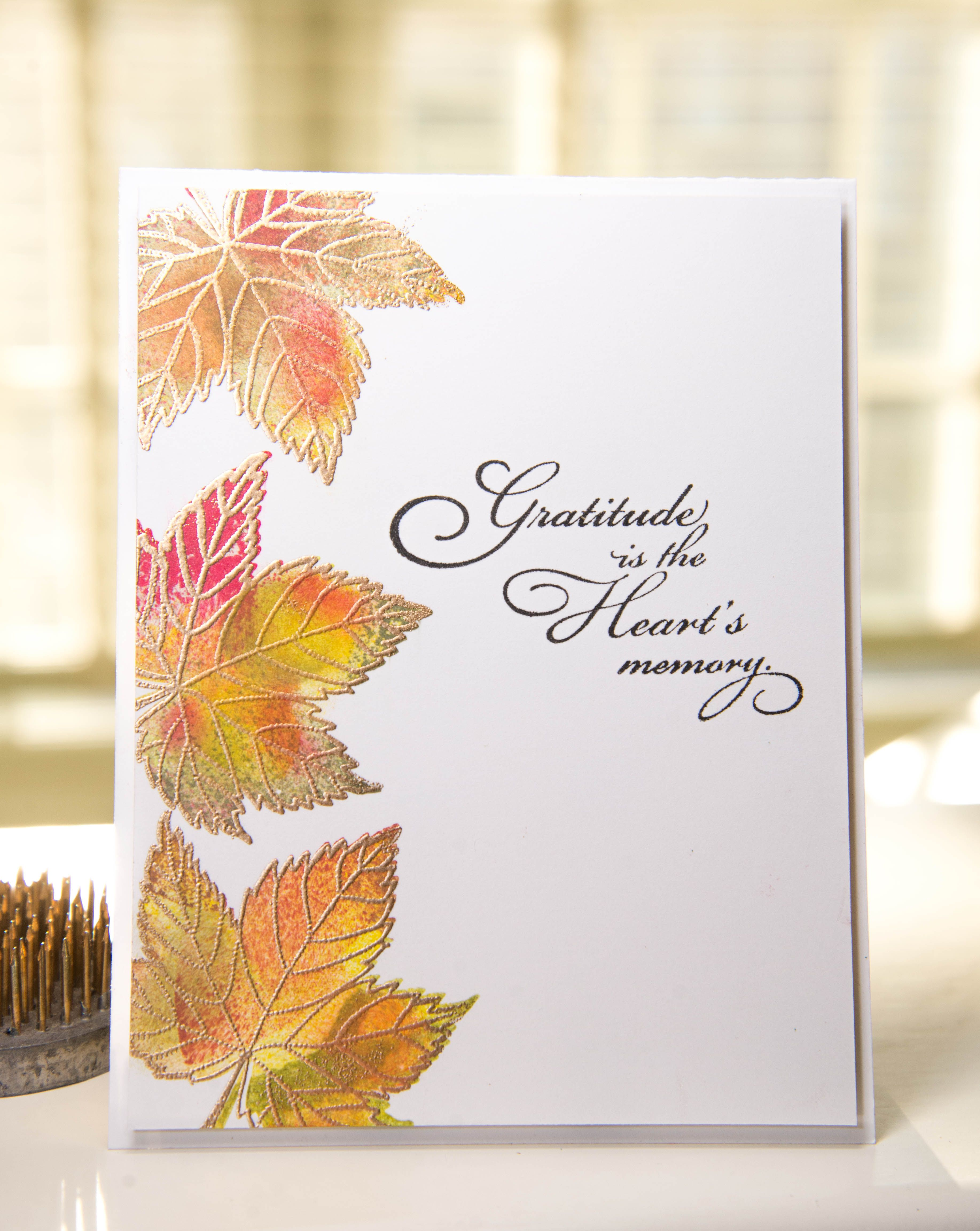 Lovely Leaves Fall cards, Leaf cards, Thanksgiving cards