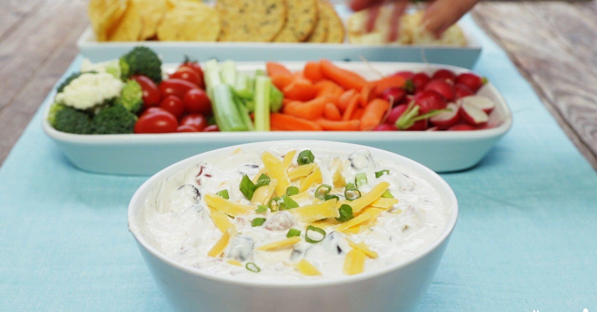 Cheesy Sour Cream And Salsa Dip Recipe In 2020 Sour Cream Dip Salsa Dip Sour Cream