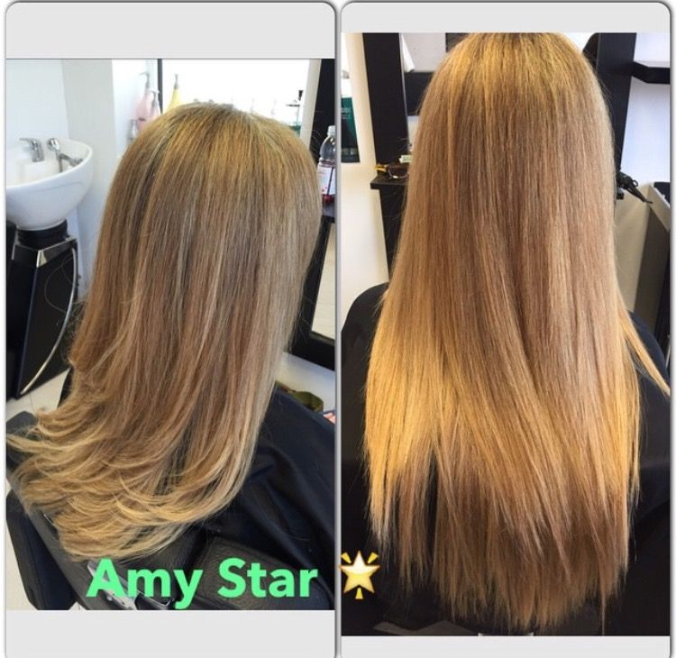 A Closer Look At My Clients Before And After Hair Extensions