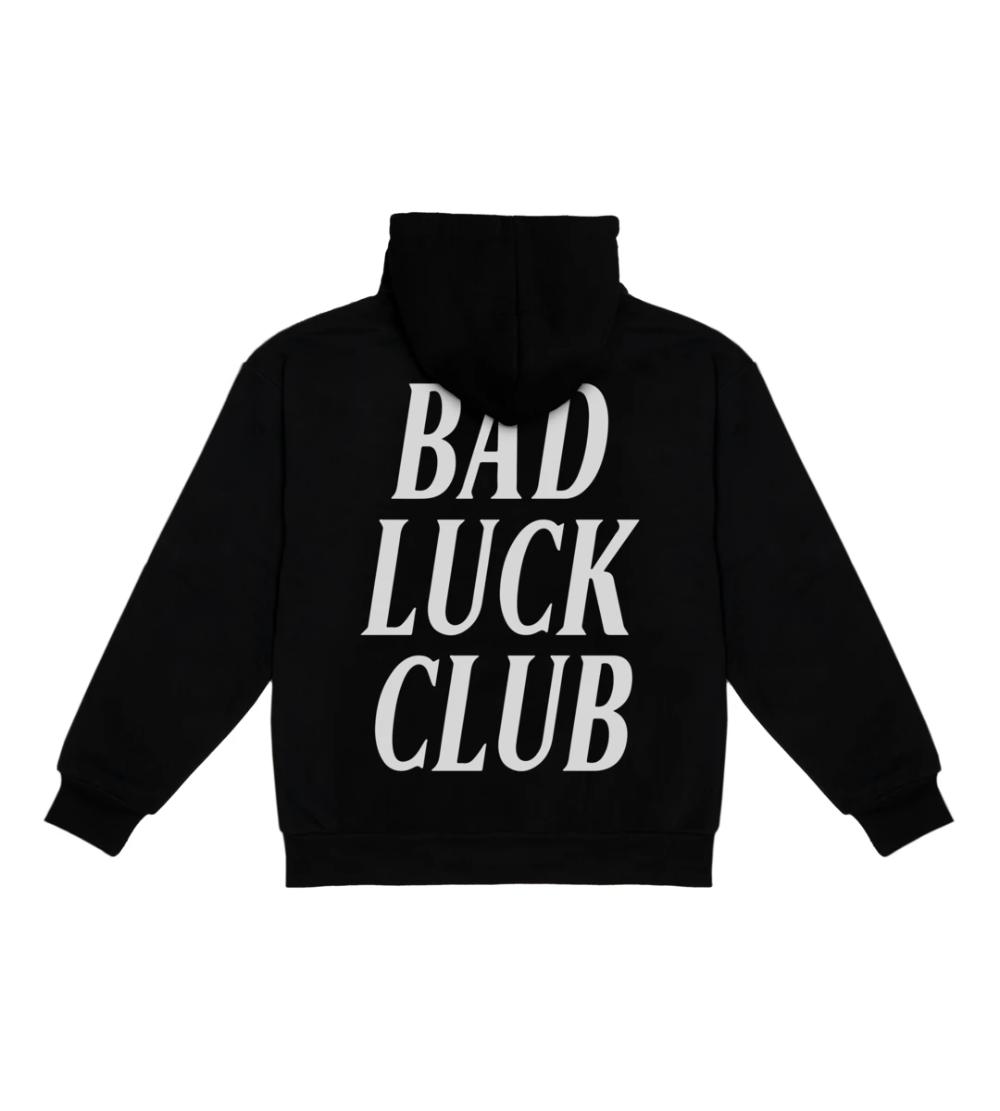 Bad Luck Club Black Hooded Sweatshirt Black Hooded Sweatshirt Sweatshirts Hooded Sweatshirts [ 1111 x 1000 Pixel ]