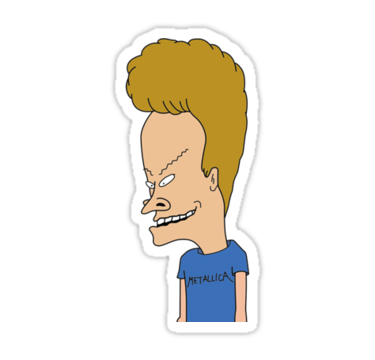 This Is Beavis From Beavis And Butthead Also Buy This Artwork On Stickers Aesthetic Stickers Stickers Batman Vs Superman