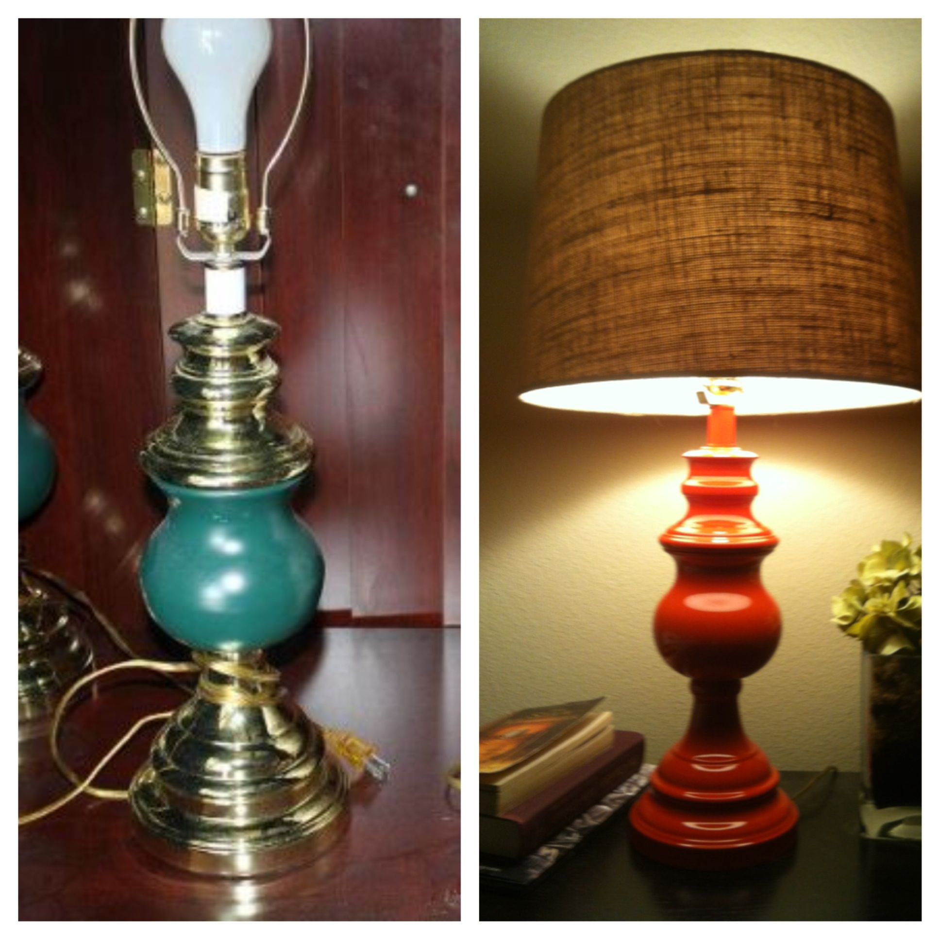 Painted Old Lamp Before After Home Decor Diy Decor Old Lamps