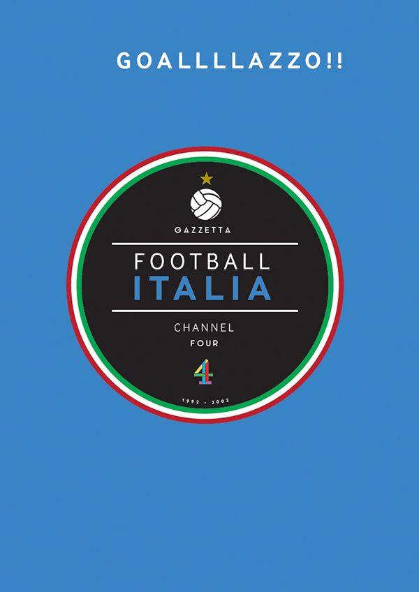 Football Italia On Behance Football Soccer Poster Sports Design
