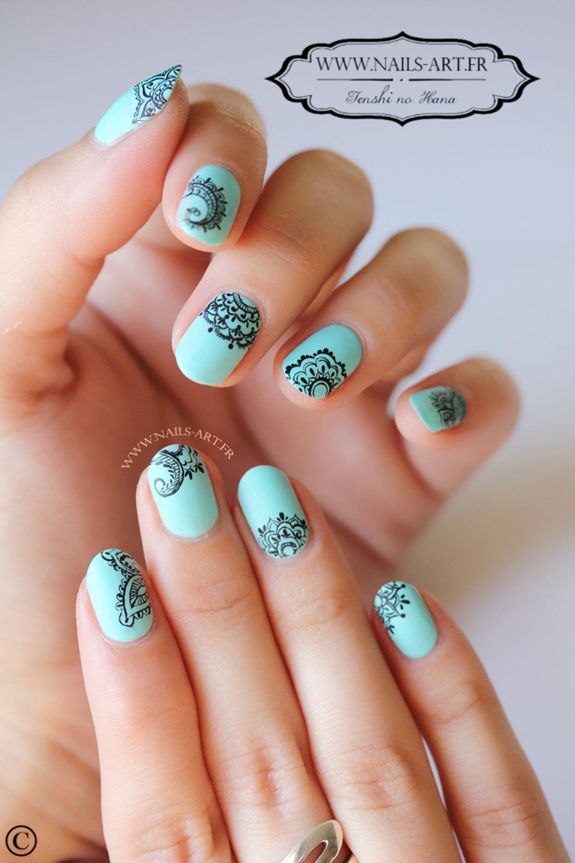 Nail Art Mandala Dentelle - By Tenshi No Hana | nails | Pinterest ...
