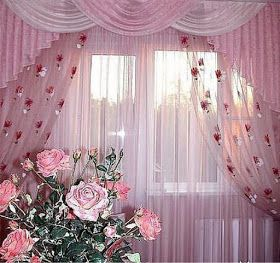 ستائر شيفون موضة 2016 بتصميمات حديثة روعة Curtain Decor Floral Curtains Curtains