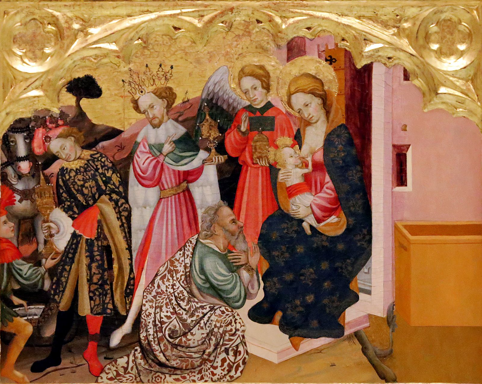 """Antoni Peris (Valencia, 1365 - 1422). """"Retablo de la Virgen de la Leche(detalle)"""", Museu de Belles Arts de València."""