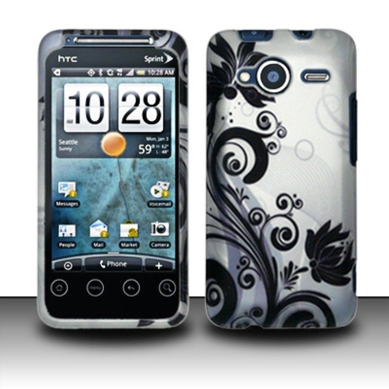 Insten Design Pattern Dust Proof Rubberized Hard Plastic Phone Case Cover for HTC EVO Shift 4G