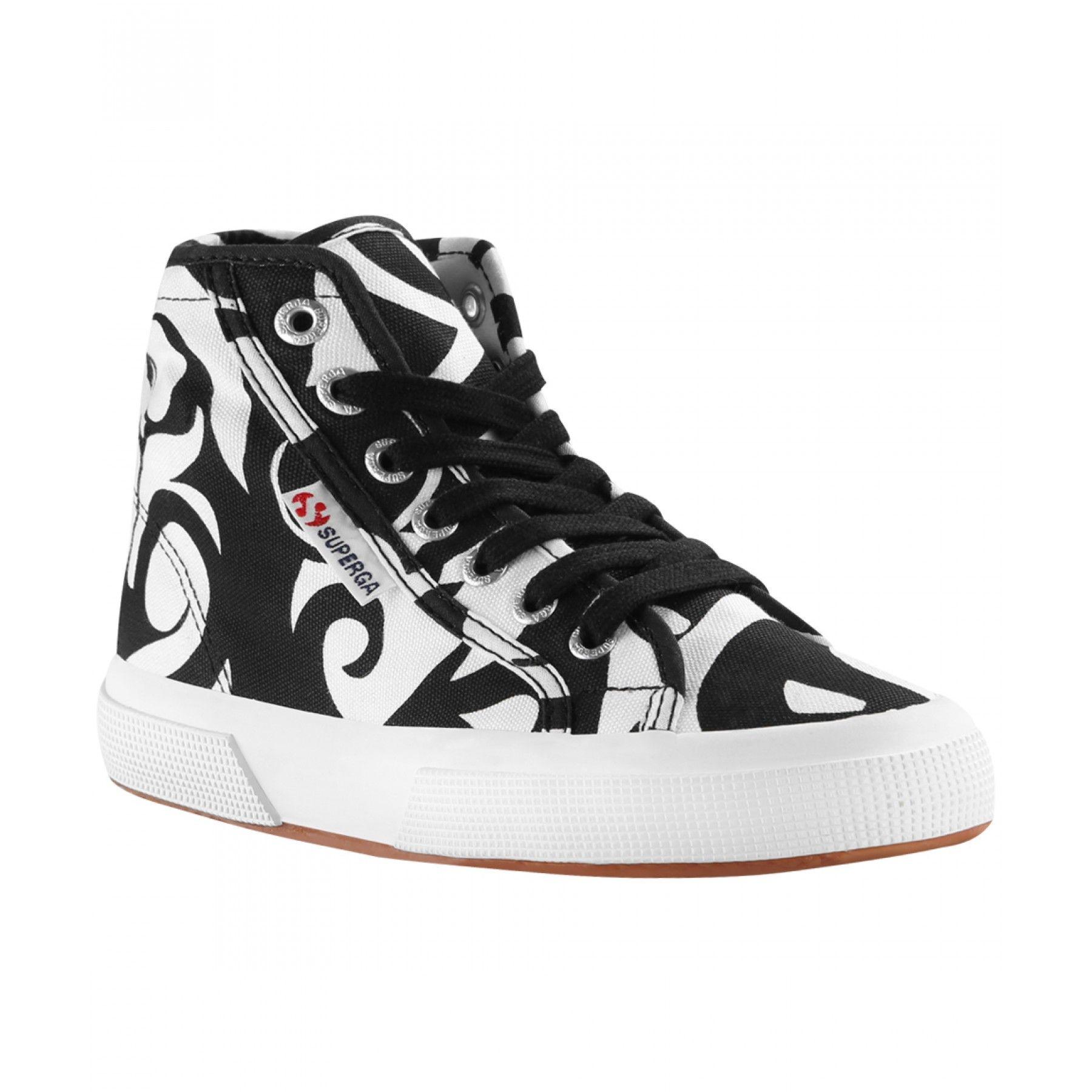 Superga Sneakers Altas - Negro Y Blanco - Caña: 10 cm - Suela: 3 cm Asequible barato en línea vMVmoX8ew
