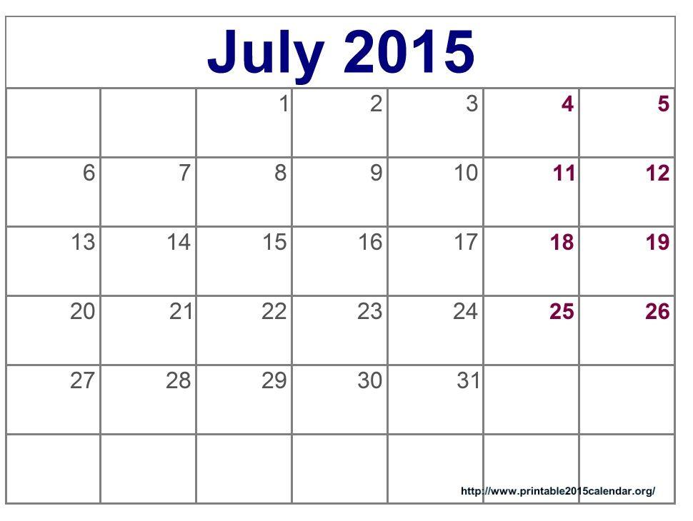 Printable Calendar Template 2015 Calendar Printable Free Printable Calendar