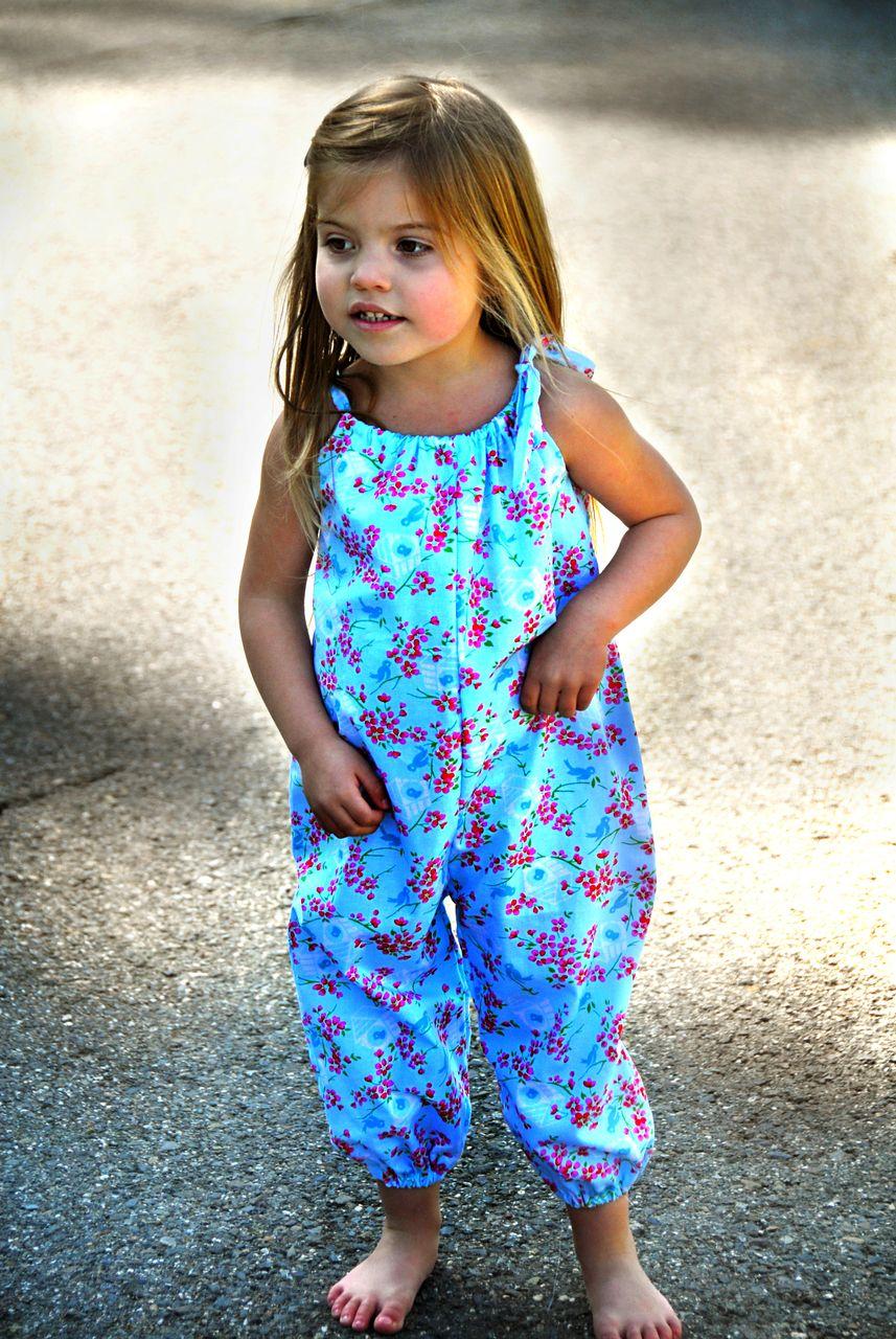 Easy Girl\'s Romper Pattern | Baby | Pinterest | Nähen, Kindersachen ...