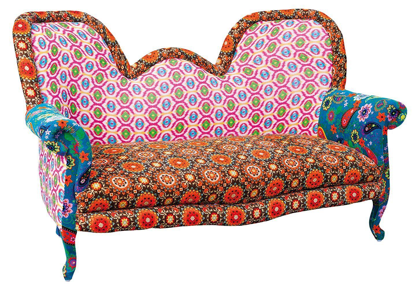 Sofa Puna Paisley Design Massivholz Samt Amazon De Kuche