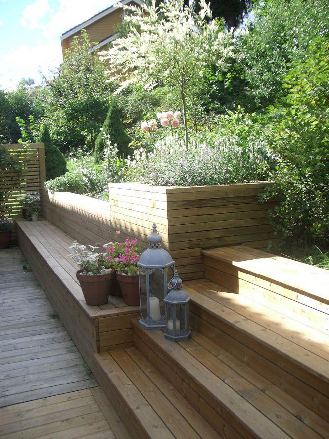 hagdesign-benk-trapp-skråning-frodig-terrassejpg (665×886 - garten gestalten mediterran