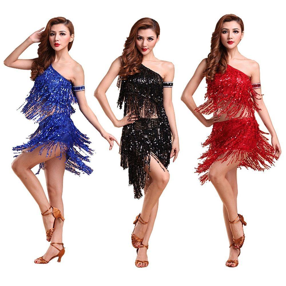 PLUS SIZE LATIN Dance COSTUME 1920S Charleston Gatsby Carnival Fringe Dress