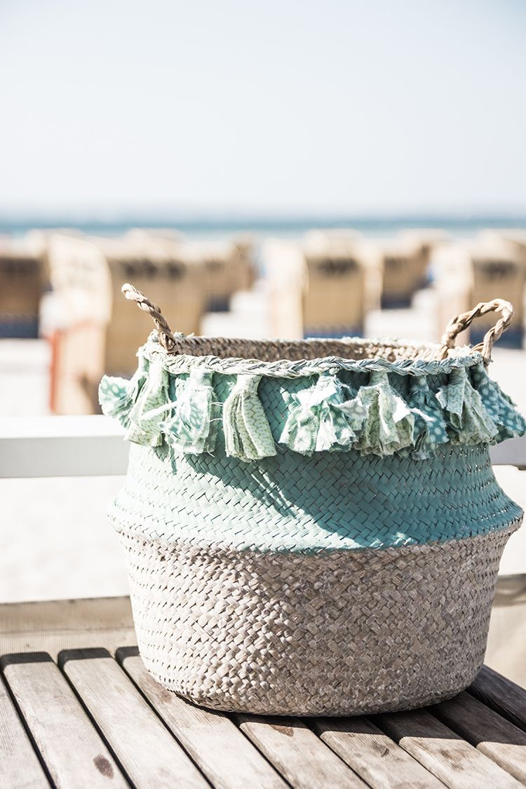 Aufbewahrungskorb Mit Tasseln Im Boho Style Selber Machen