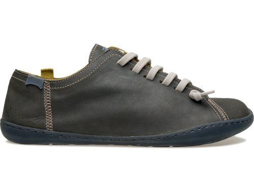 4d7f21563b768a Camper - Peu Cami comes as a dark grey lace up shoe made of nubuck leather.