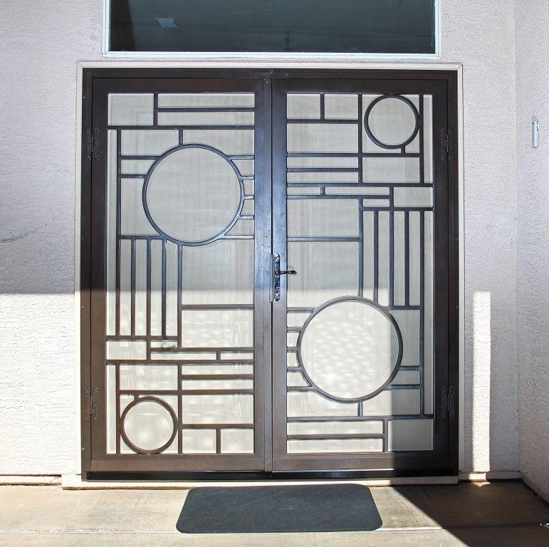 Night Groove First Impression Security Doors Wrought Iron Security Doors Iron Security Doors Steel Door Design