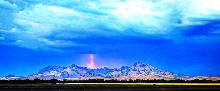 Sutter Buttes Lightning Storm - Appeal-Democrat: Near Beale AFB .... our last military home base.