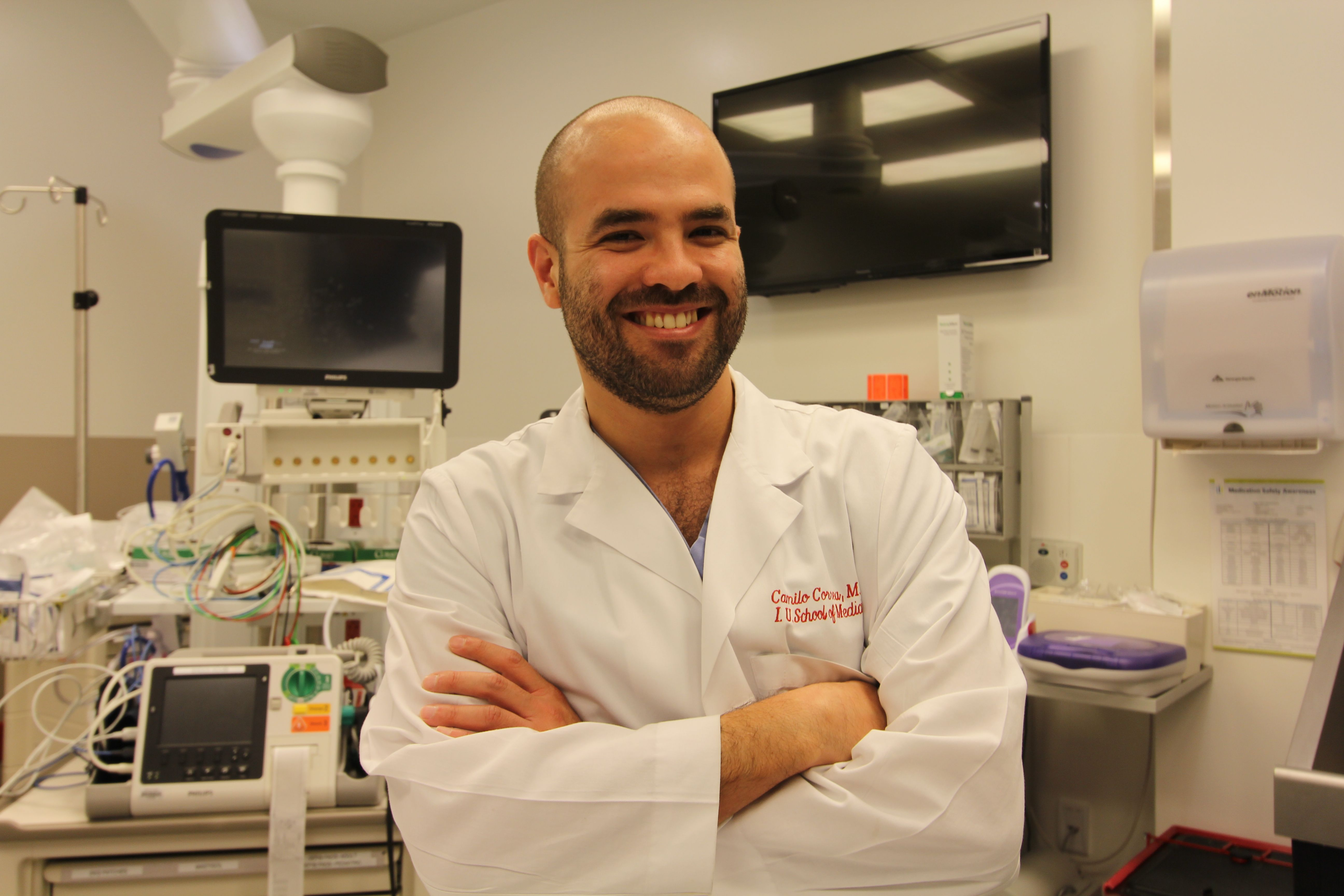 Meet Dr. Camilo Correa, trauma chief resident at Eskenazi Health! http://on.fb.me/1plPA6D  Each week on #TraumaTuesday, we'd like to introduce you to staff members, physicians and residents in the Smith Level I Shock Trauma Center at Eskenazi Health. Each member of the team is a vital part of the trauma process and has his or her own unique story. Come back each week to see more faces of our specialized trauma team!