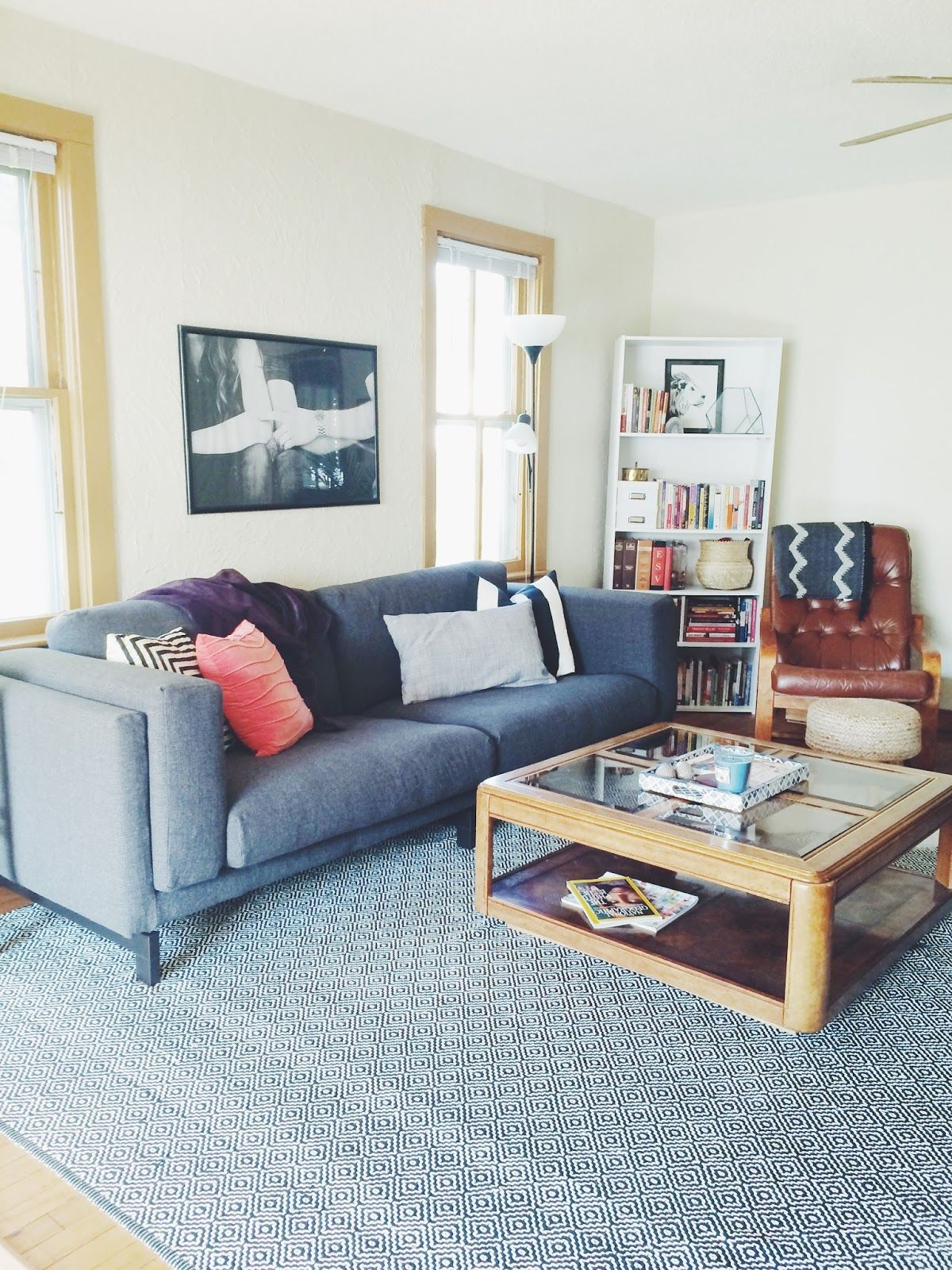 Living Room Tour // Ikea Nockeby Couch Rustikales wohnzimmer