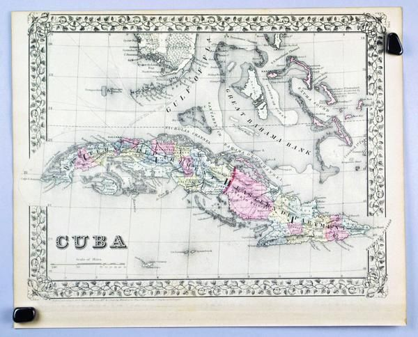 Mexico Central America West Indies Antique Mitchell Map 1881 - Historic Accents