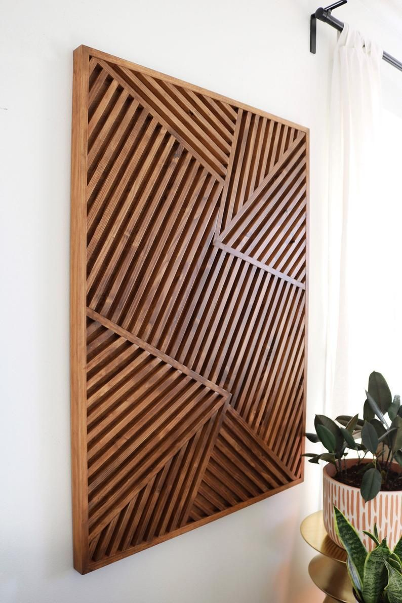 Art Geometric Modern Rustic Wall Wood Wood Art Diy Wood Art Easy Wood Art Ideas Wood Art Painted Wood A In 2020 Wood Wall Art Diy Wood Feature Wall Wood Art