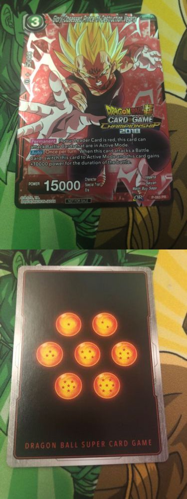 Dragon Ball Super Glory Obsessed Prince of Destruction Vegeta P-063 Promo Foil