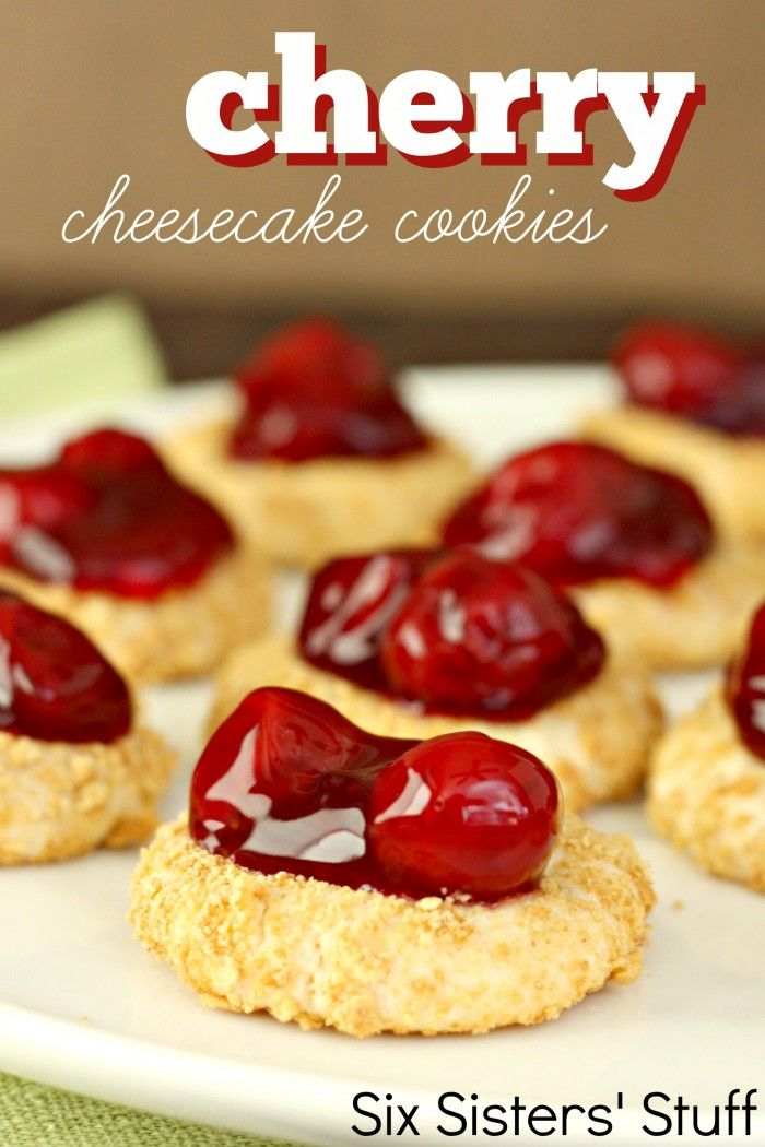 Cheesecake lovers unite!! For those of you who have no control when it comes to cheesecake (like me), I give you bite-sized cheesecakes in the form of a cookie!