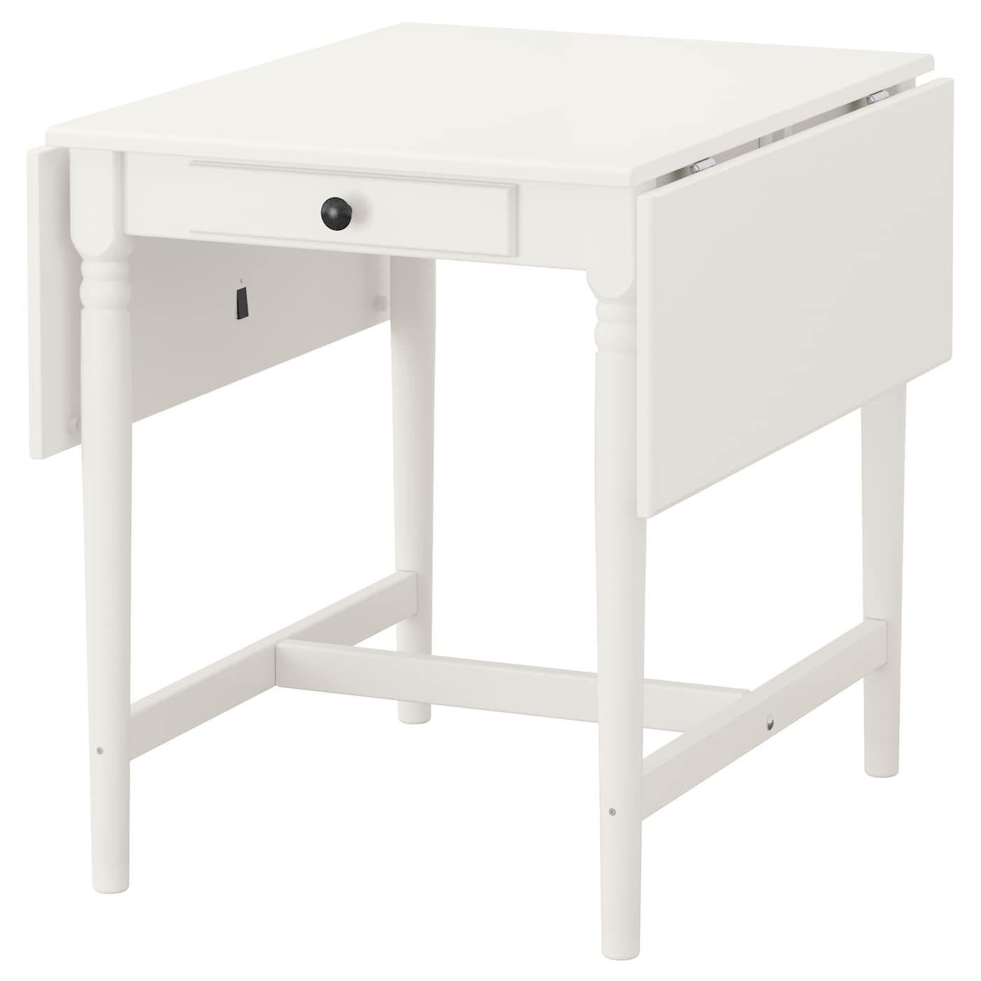 Ingatorp Drop Leaf Table White 25 5 8 48 3 8x30 3 4 Vitt Matbord Litet Matbord Matbord