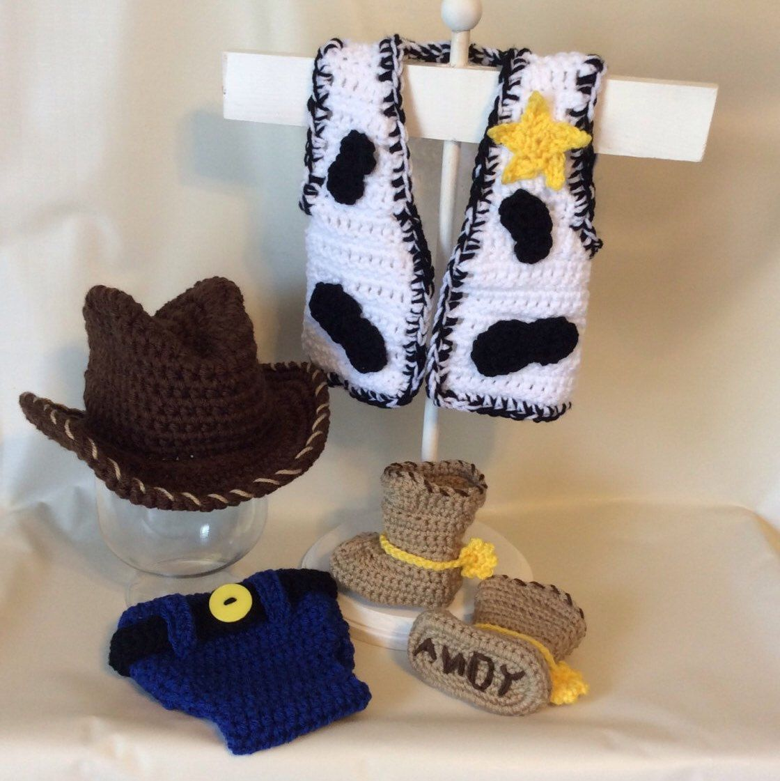 6a718b44d7ba4 Crochet Toy Story Woody Baby Photo Prop Ropa Bebe