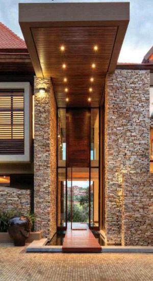 Ingreso arquitectura pinterest entrada fachadas y casas for Ingreso casas modernas