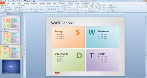 Swot Analysis Examples Ppt Template  Projects To Try