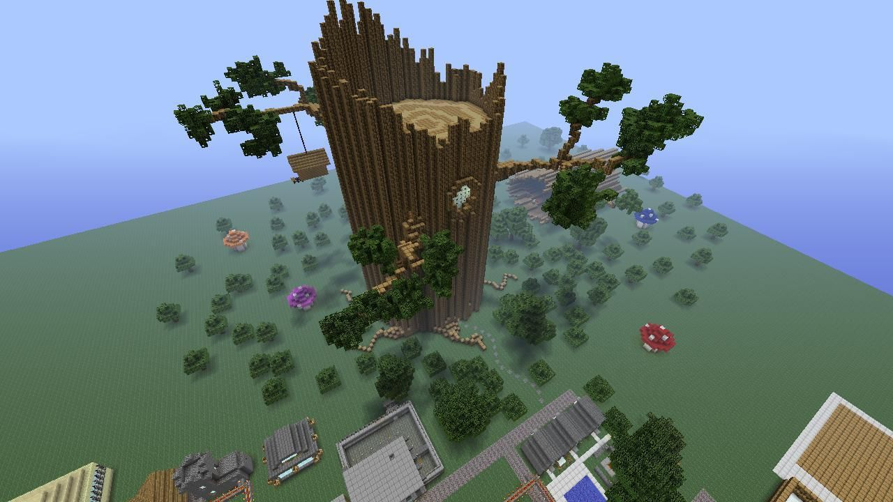 Tree House Idea Minecraft Treehouses Minecraft Houses