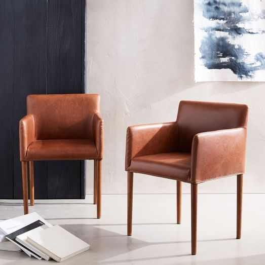 Ellis Faux Leather Dining Armchair Armchairs Restaurant