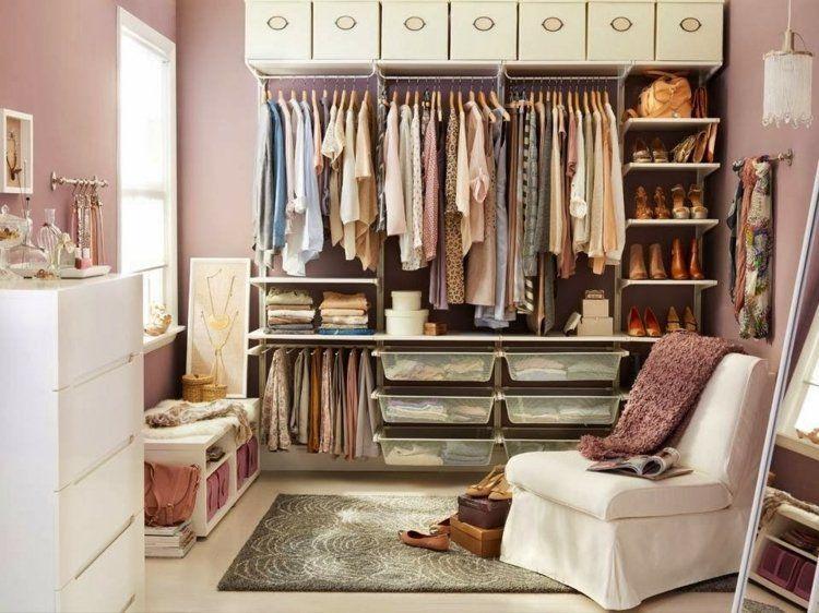 Popular Begehbarer Kleiderschrank in Altrosa Farbe