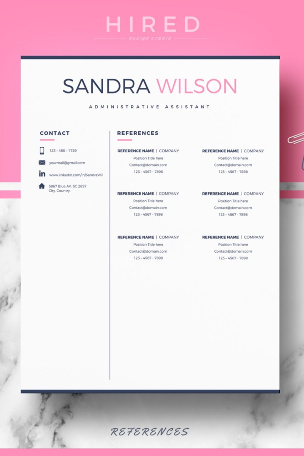 Use the same visuals or letterhead you used for your