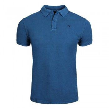 SCOTCH & SODA Garment-dyed Cotton Piqué Poloshirt worker blue