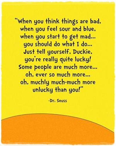 Thirteen inspirational Dr. Seuss quotes…