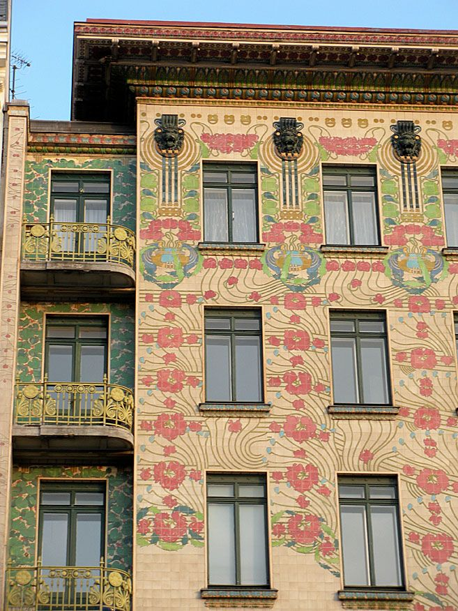 Vienna, building near Nachtmarket and designed by Otto Wagner.