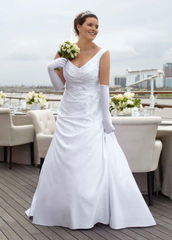 23+ Off the shoulder satin a line wedding dress ideas