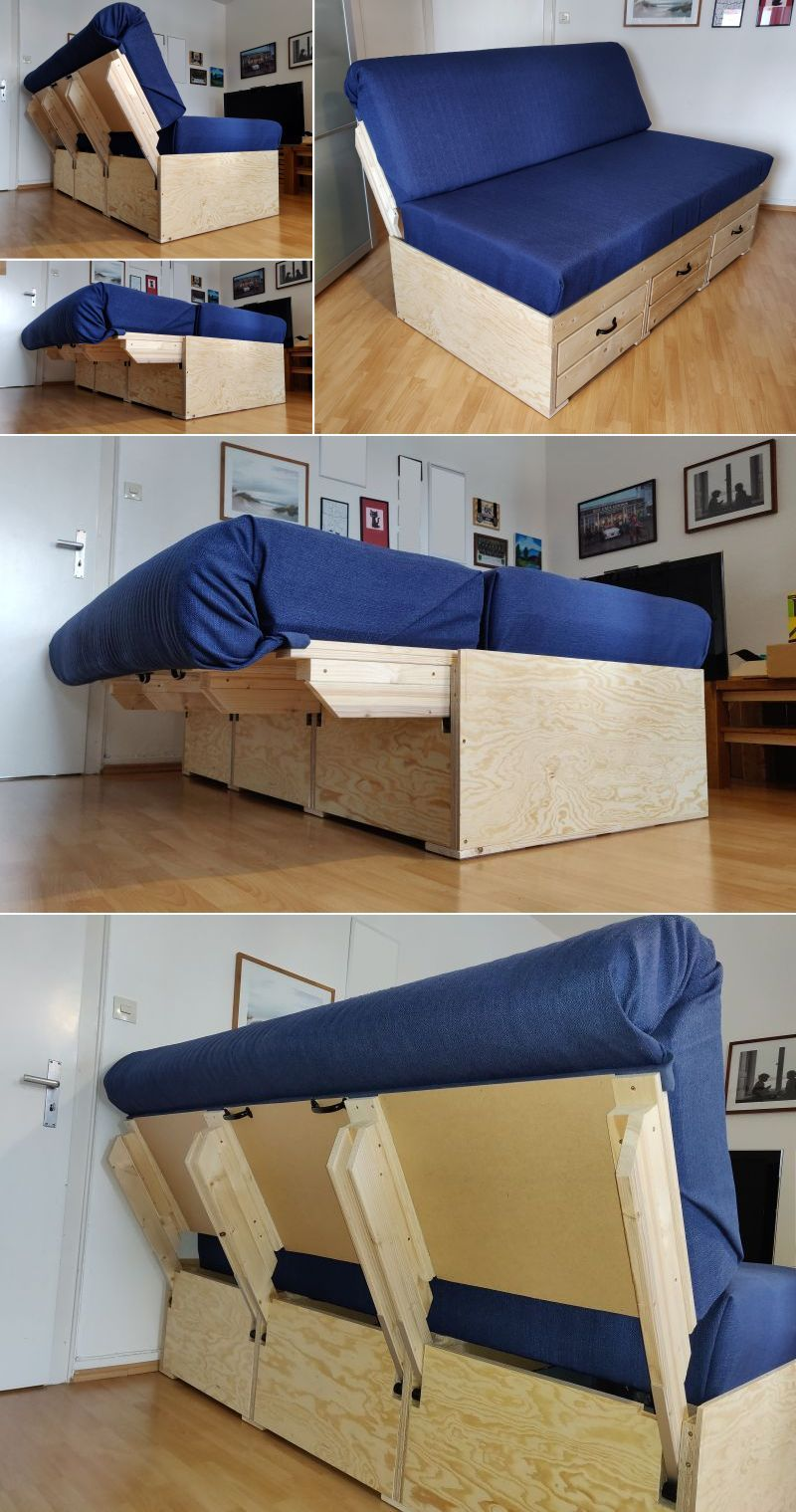 Diy Convertible Sofa Bed With Storage Diy Sofa Bed Sofa Bed With Storage Diy Sofa