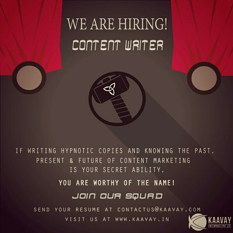 Kaavay is looking for a prolific and skilled content writer who - content writer resume