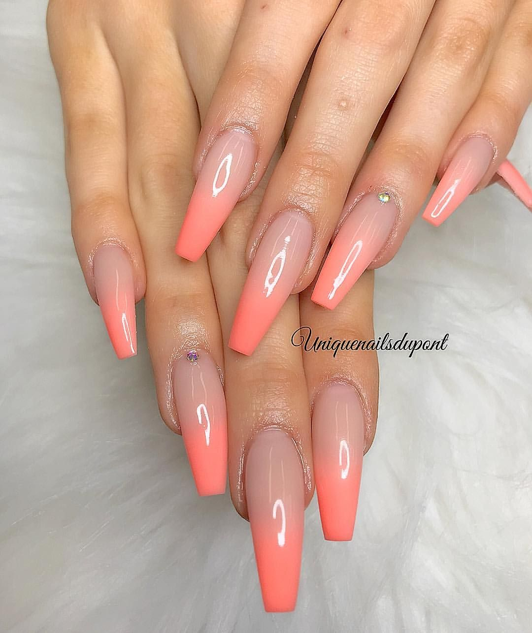 "Photo of Tina Le on Instagram: ""Biogel fullset with ombre gel  #nails #nailart  #biogel  #biosculpture #artificialnails #fakenails #manicure #pedicure #nailssalon…"""