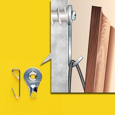 How to Choose the Right Hanging Hardware | Wall stud, Drywall and ...