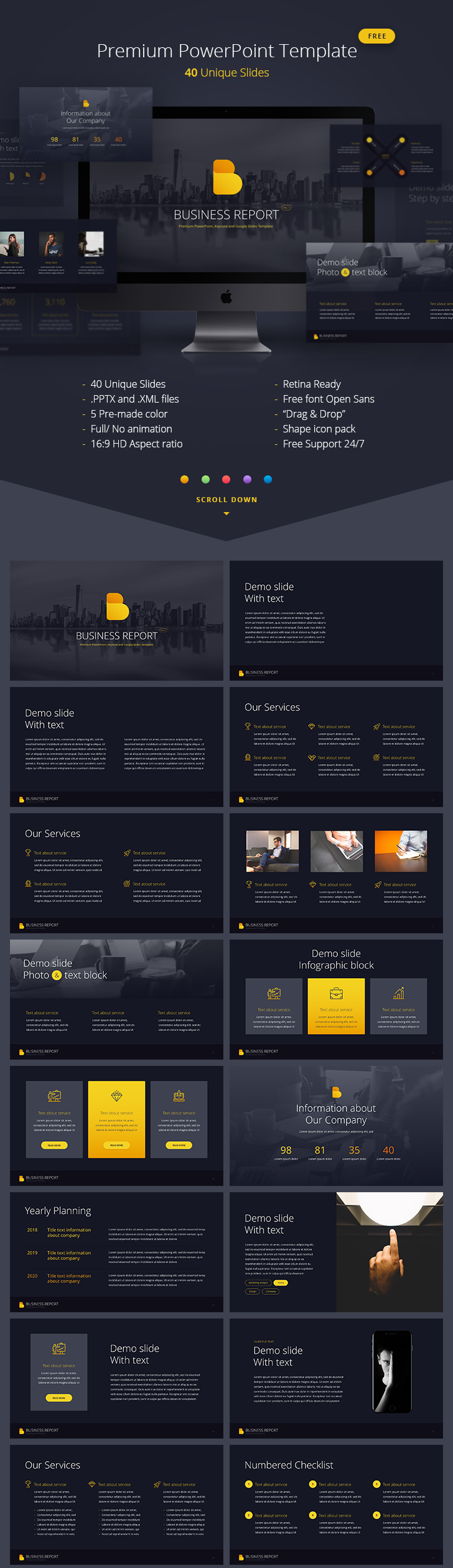 business-report-powerpoint-template-vol-1   design banner ...