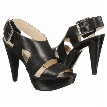 love these!!!!  Womens MICHAEL MICHAEL KORS Carla Platform Black Leather Shoes.com
